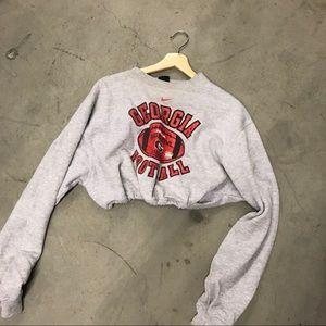 Georgia drawstring crop sweatshirt